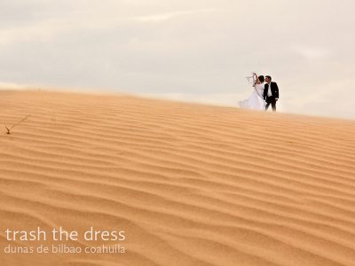 Trash the Dress en las dunas de Bilbao, Coahuila
