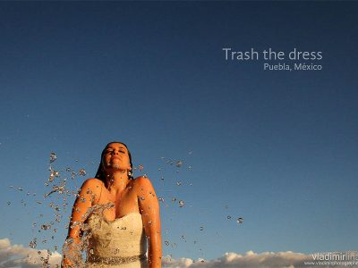 Trash the dress, Hotel La Purificadora, Puebla, México.